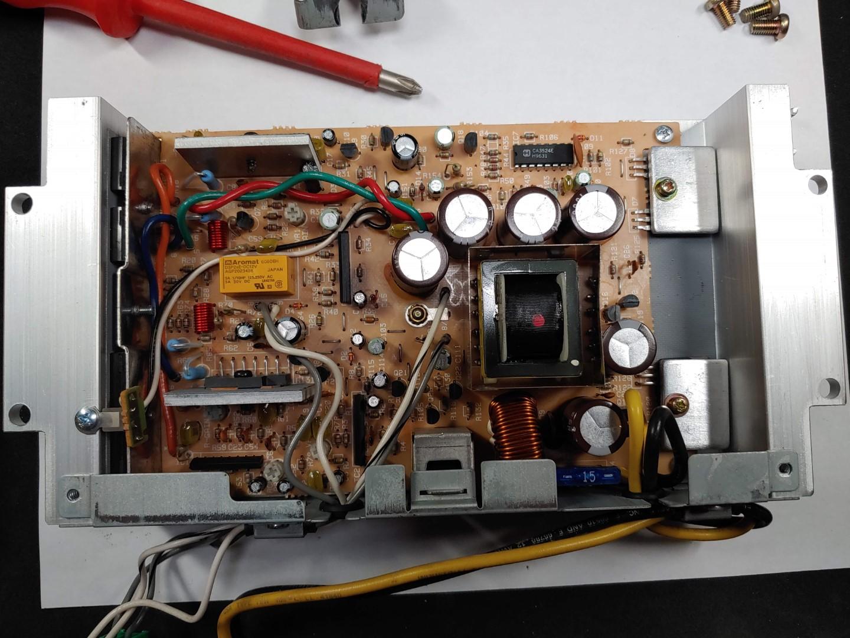 Front door speaker amp - top of board